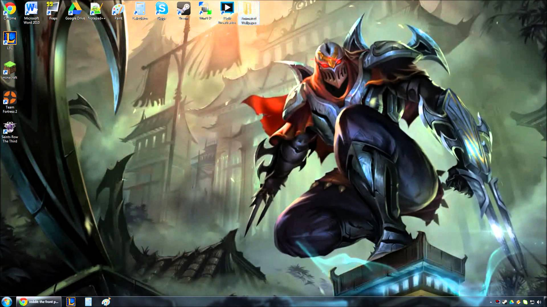 Free Download Zed Animated Wallpaper Preview 1920x1080 For Your