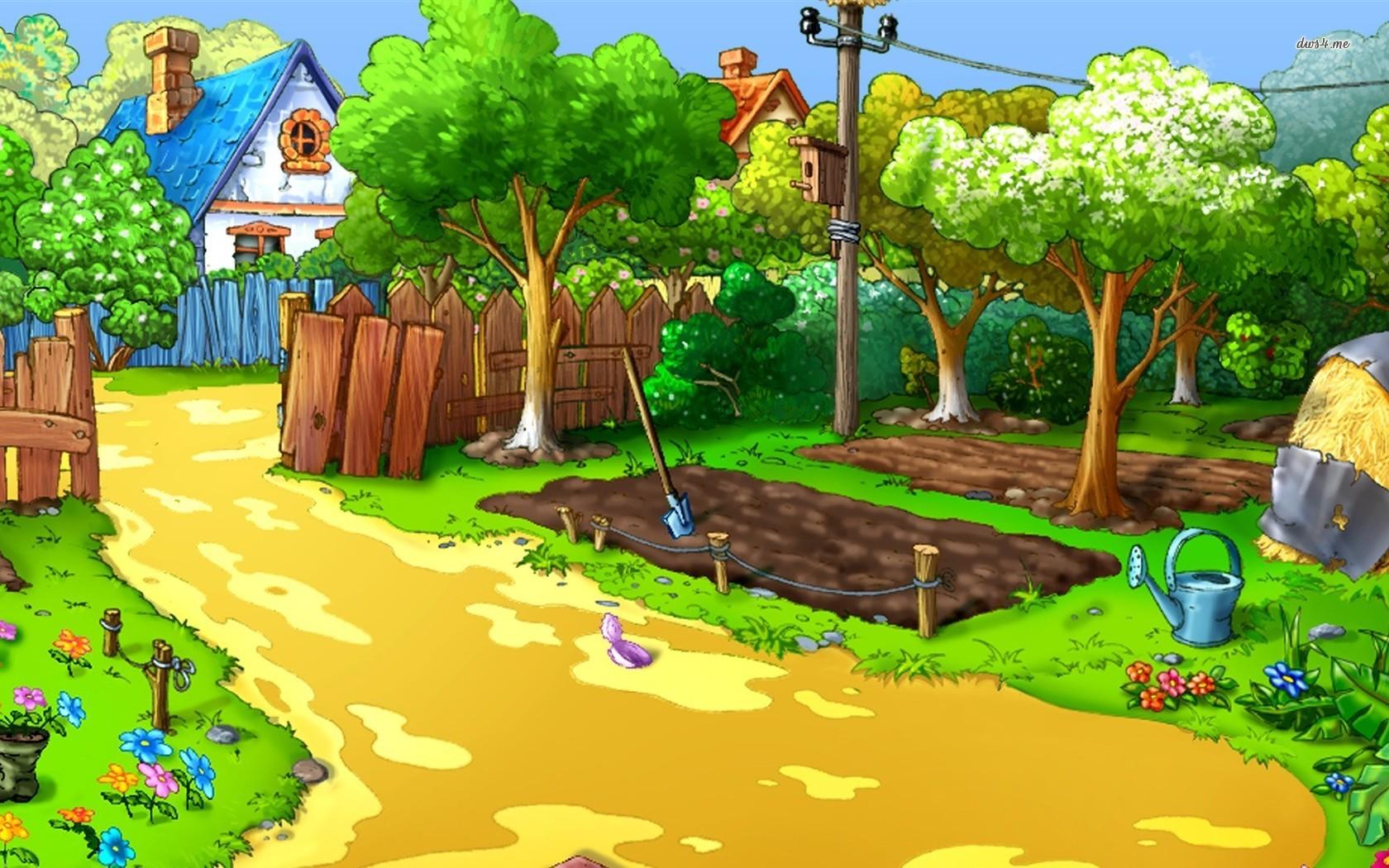 description download wallpaper titled cartoon farm wallpaper for your 1680x1050