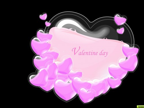 Pink And Black Hearts Wallpaper Wallpaper pink and black 500x375