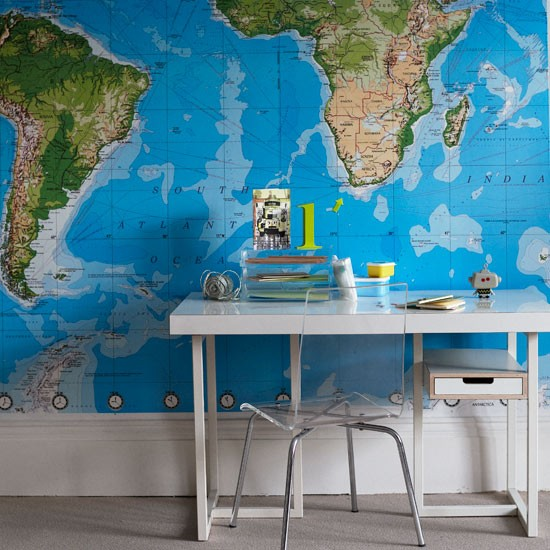 World map wallpaper for walls Global decorating trend 550x550