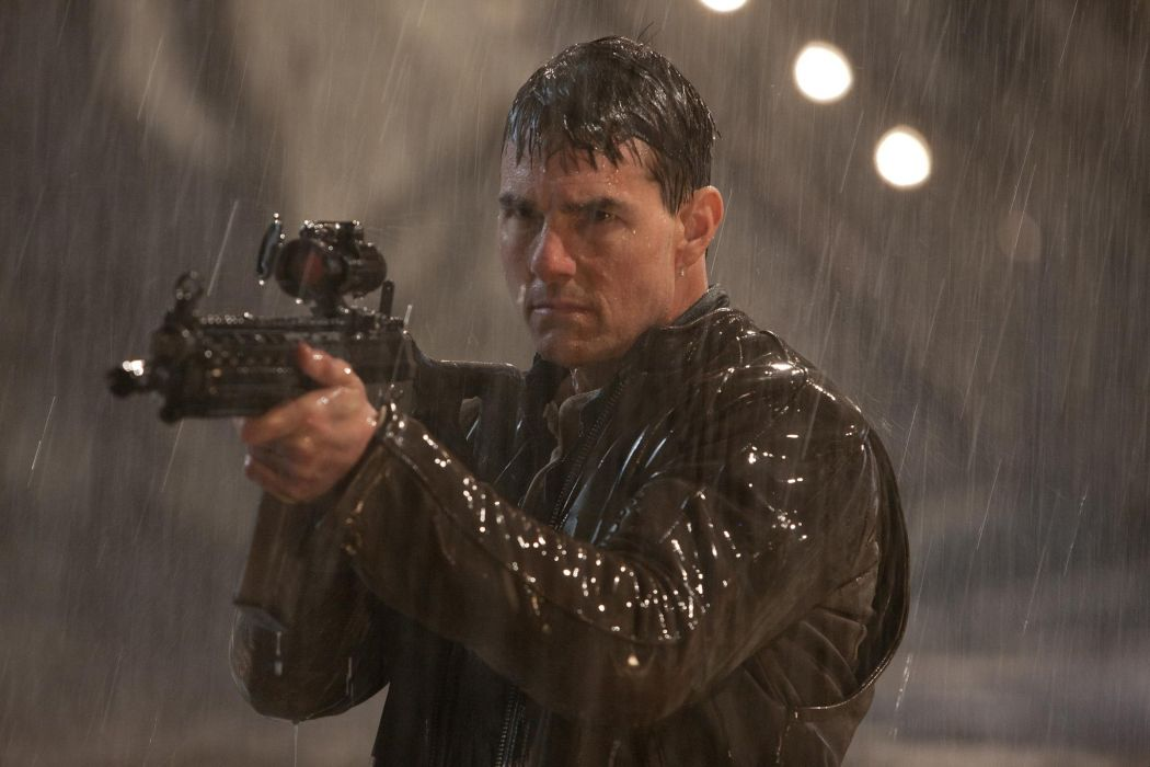 Jack Reacher movies action weapons guns tom cruise wallpaper 1050x700