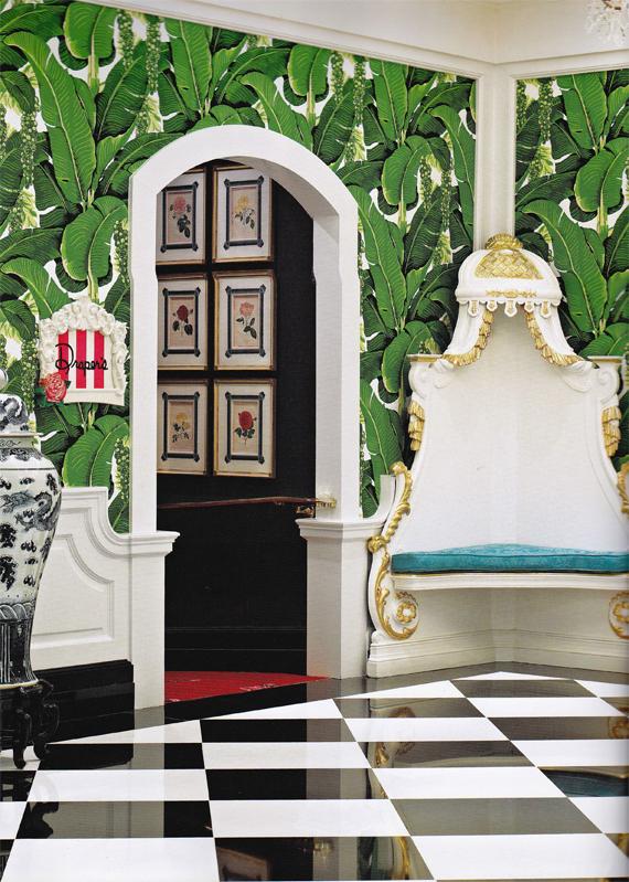 Draper then redone by Carlton Varney with Brazillance Wallpaper 570x799