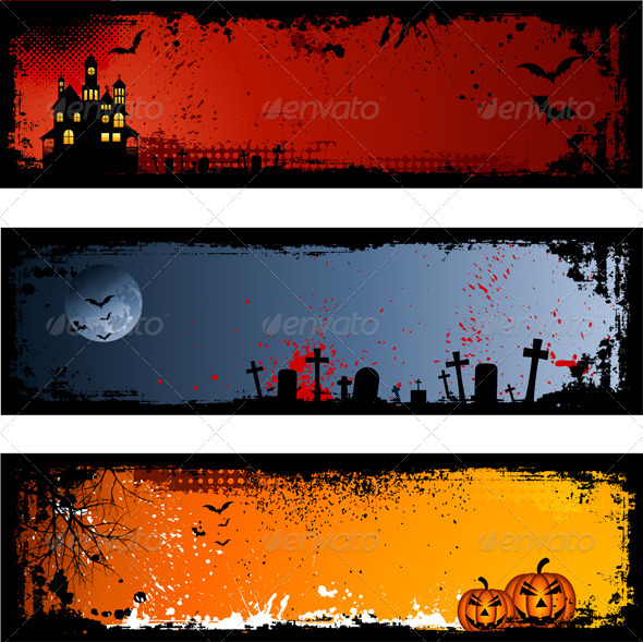 GraphicRiver Halloween Backgrounds 1847819 590x589