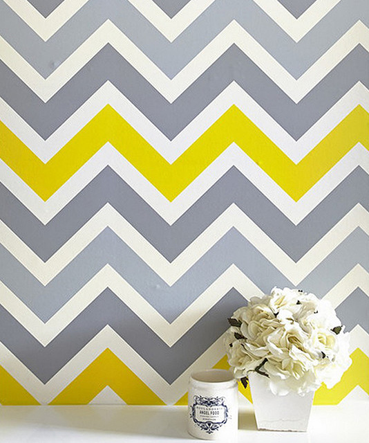Gray Yellow Chevron 20 Wallpaper modern wallpaper 534x640