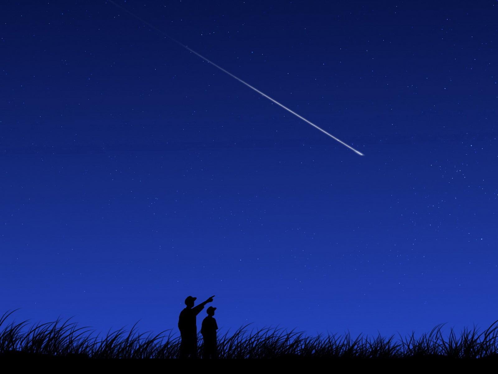 shooting star Wallpapers shooting star Myspace Backgrounds shooting 1600x1200