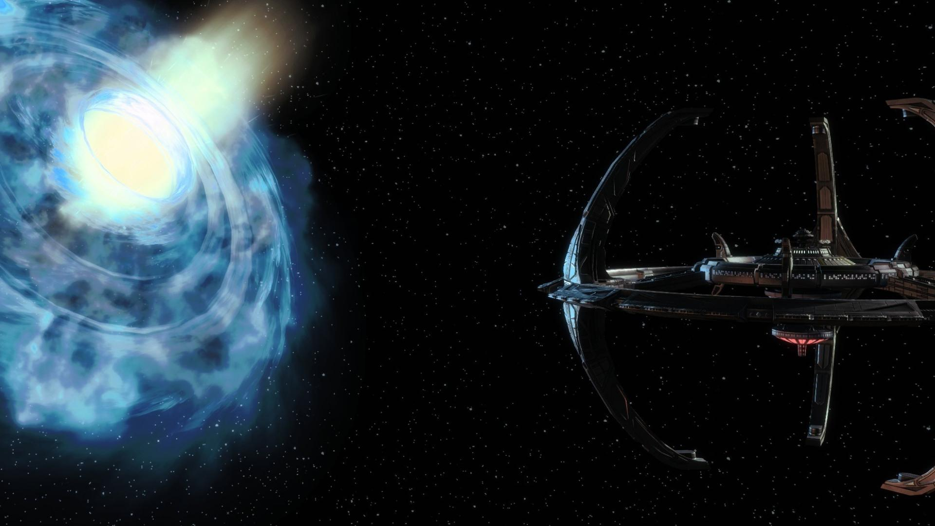 Fiction wormhole multiscreen deep space 9 ds9 wallpaper 19856 1920x1080