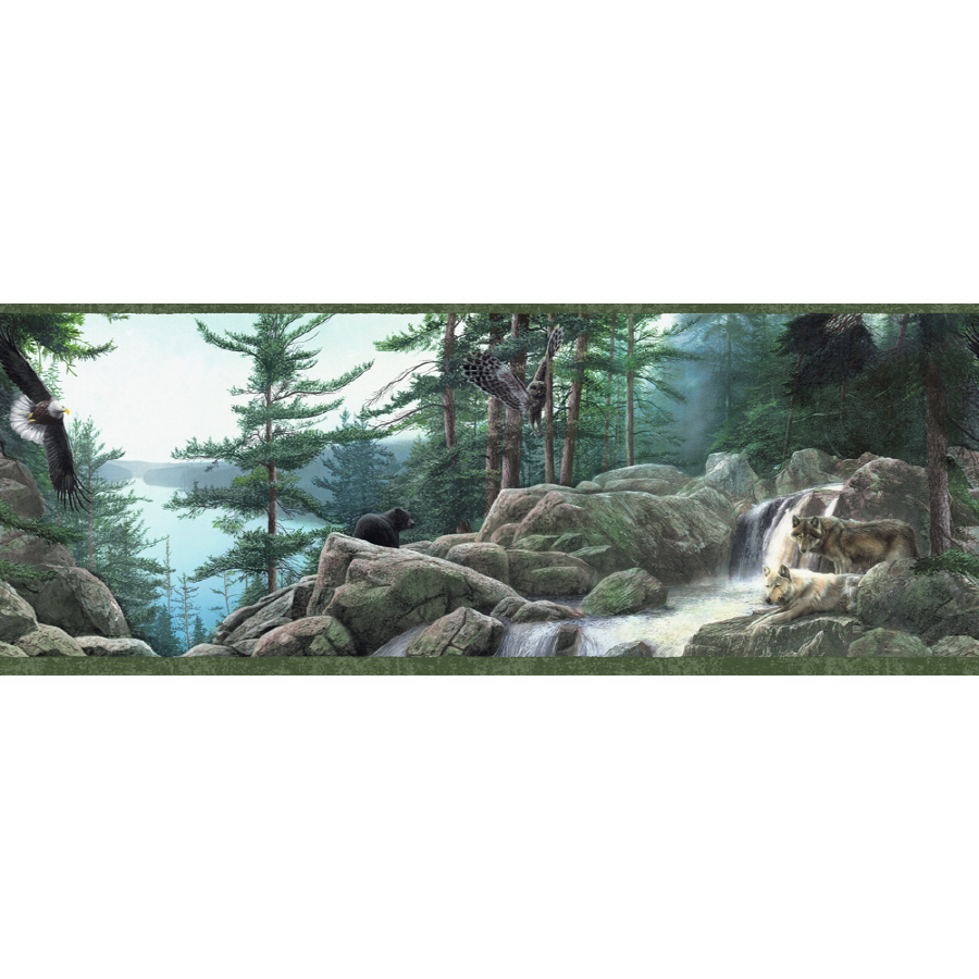 10 14 Wildlife Nature Prepasted Wallpaper Border at Lowescom 900x900