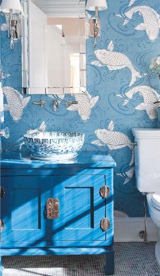 wallpaper and consoleDecor Bathroom Design Cottages Gardens Beach 319x550