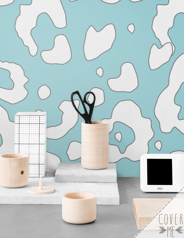 Peel and Stick vinyl Wallpaper Cheetah by CoverMEwallpapers 775x1000