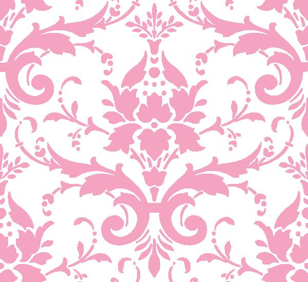 Pink Damask Ii Clip Art at Clkercom   vector clip art online royalty 600x549