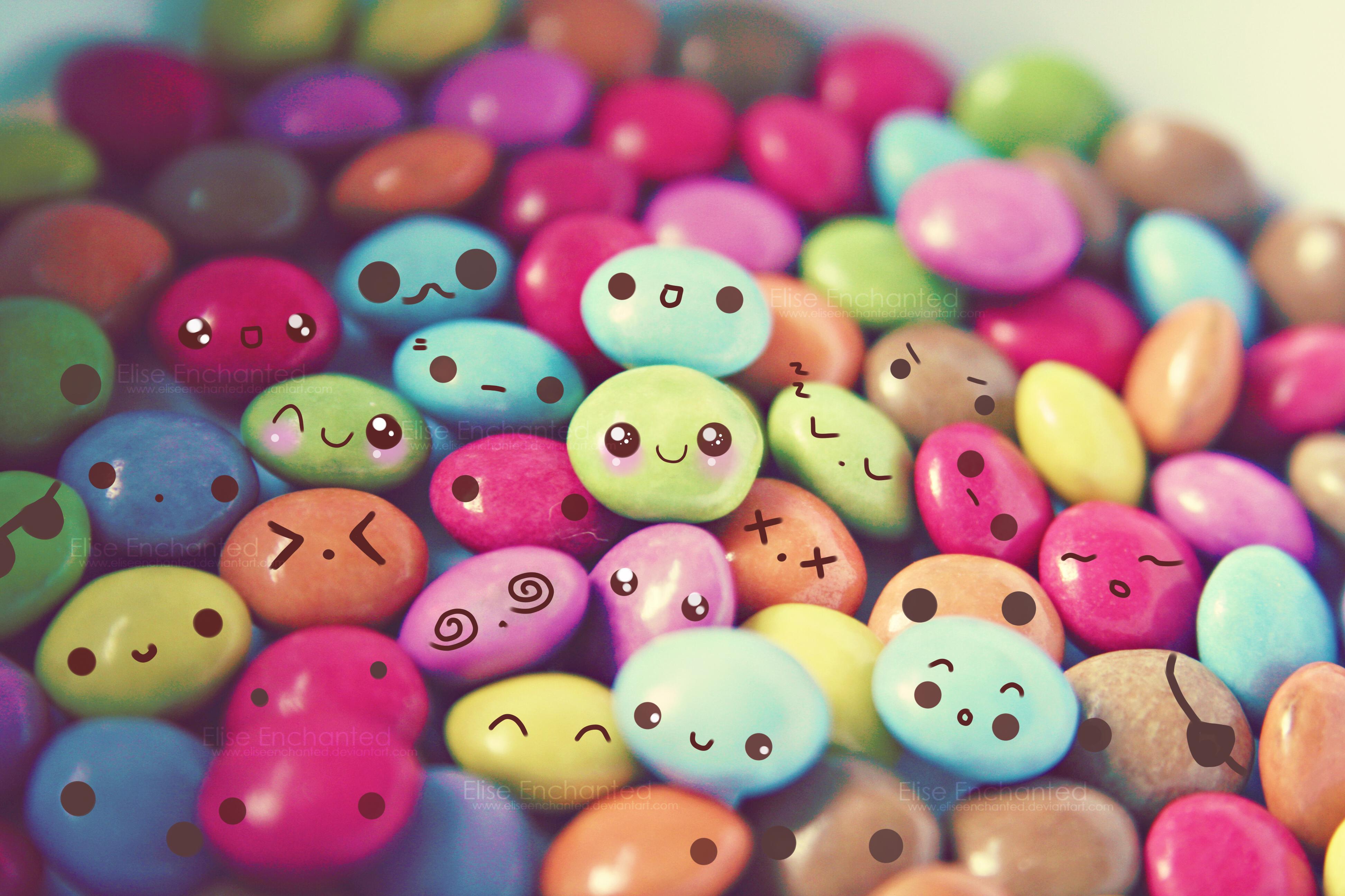 Cute Candy Faces   Desktop 3888x2592