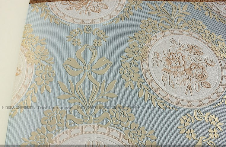 Vintage Classic Cream French Flocking Damask Feature Wallpaper Wall 749x487