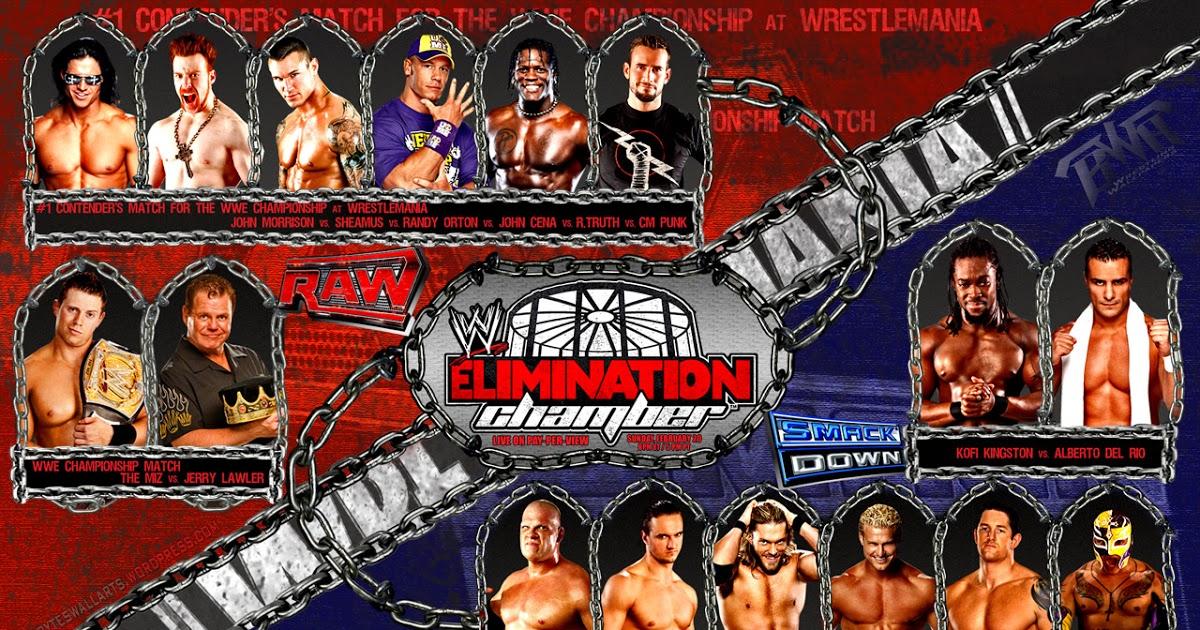 WWE Elimination Chamber 2011 Match Card Wallpaper 1200x630