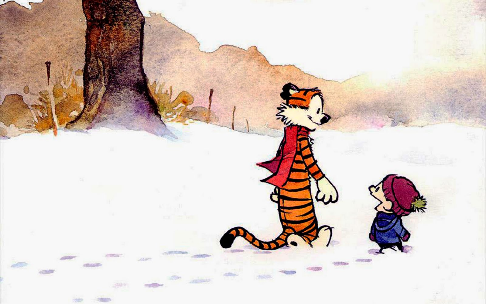 Calvin and Hobbes Cute Cartoon HD Wallpapers Cartoon 1600x1000