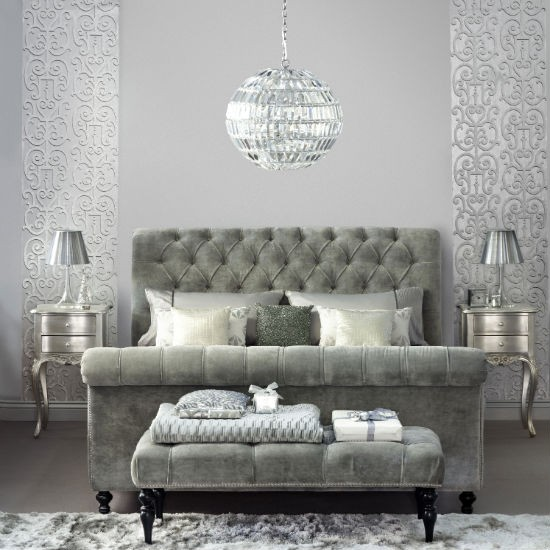 pewter bedroom with a velvet headboard footstool metallic wallpaper  Gray  Silver and Pewter Wallpaper WallpaperSafari. Silver Wallpaper For Bedrooms