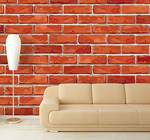 Self Adhesive Removable Wallpaper Brick 500x466