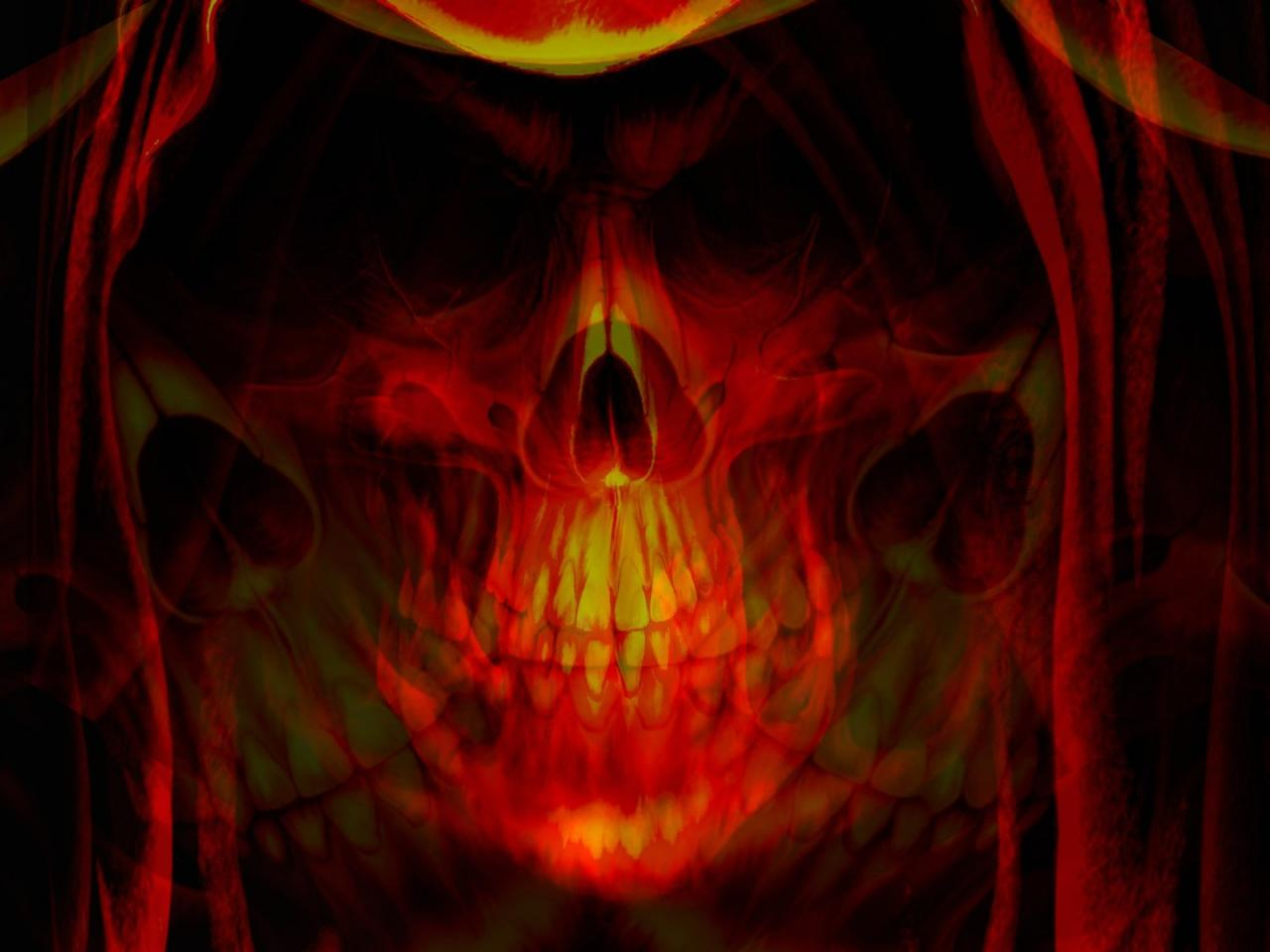 Android Phones Wallpapers Android Wallpaper Skull In Fire 1280x960