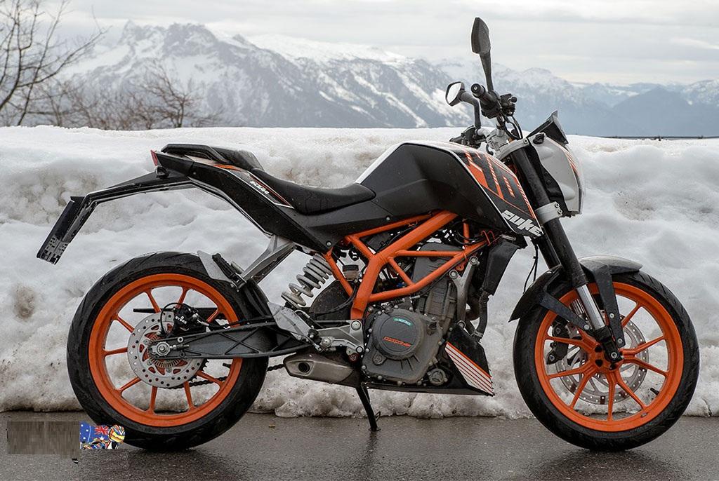 KTM 390 Duke in Snow Wallpaper 1024 686 1024x686