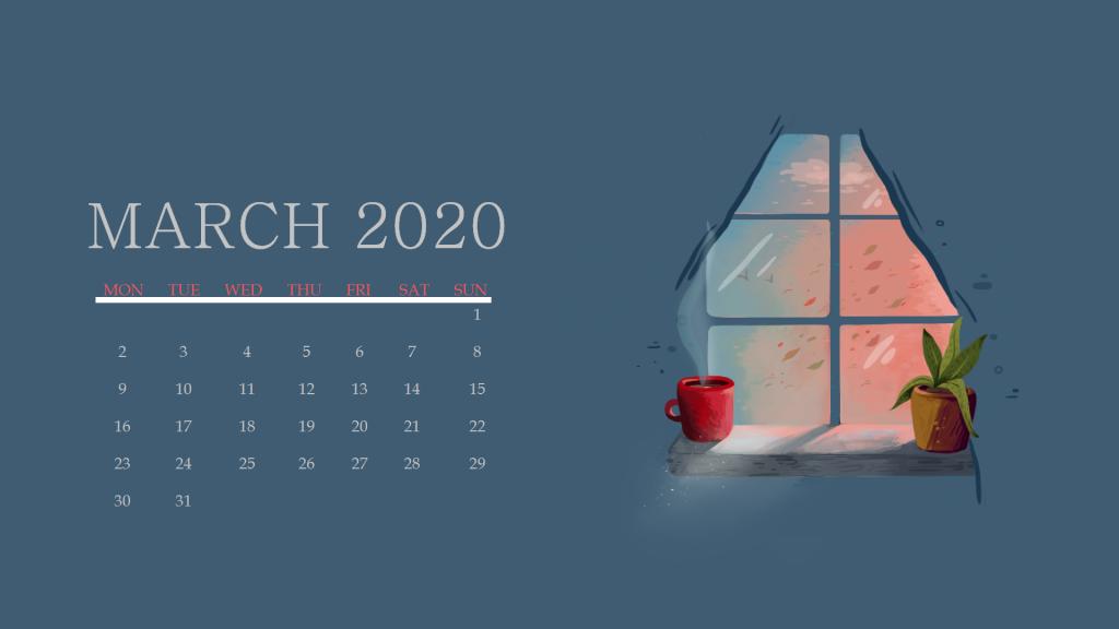March 2020 Calendar Wallpaper For Desktop Laptop iPhone 1024x576