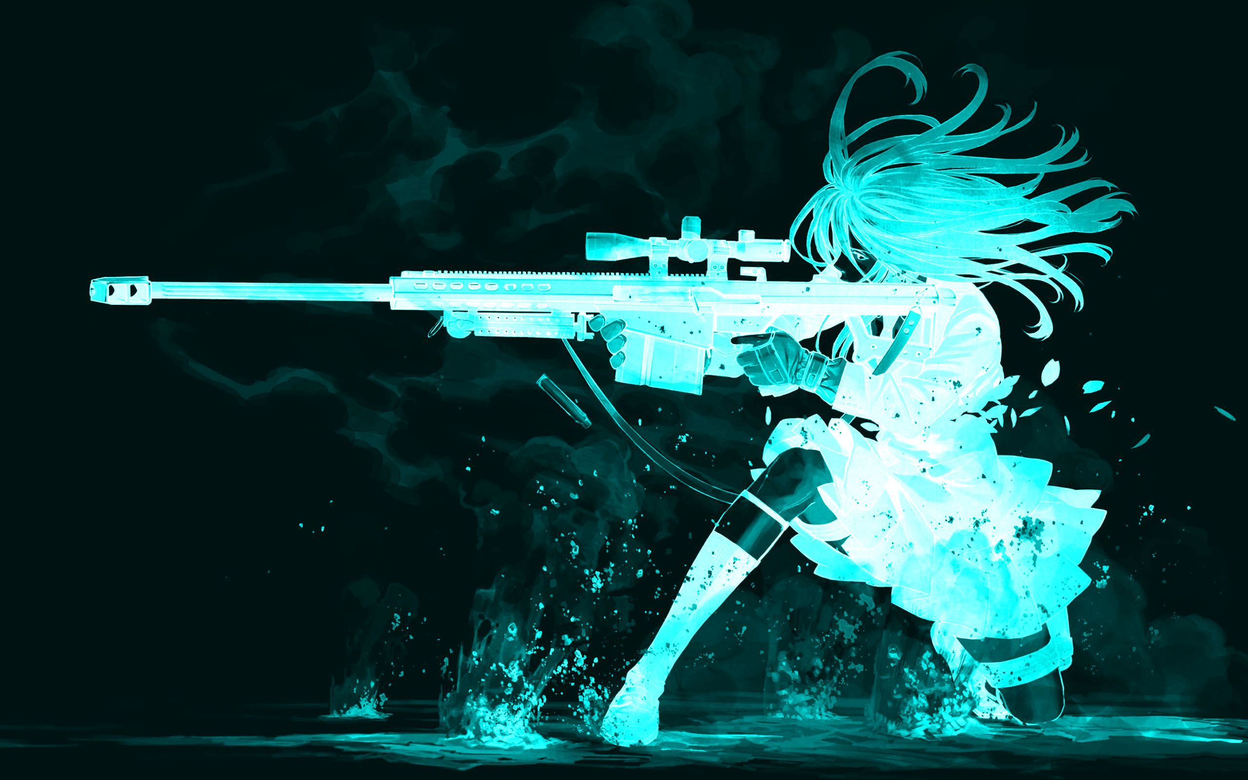 Glowing shooting girl wallpaper 28070 2560x1600