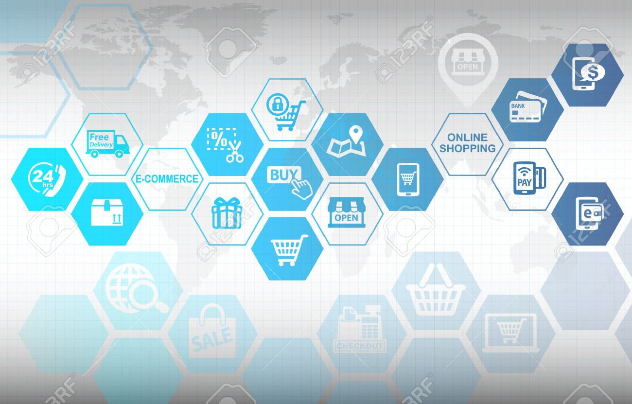 Online Shopping E commerce Concept Background Stock Photo Picture 1300x831