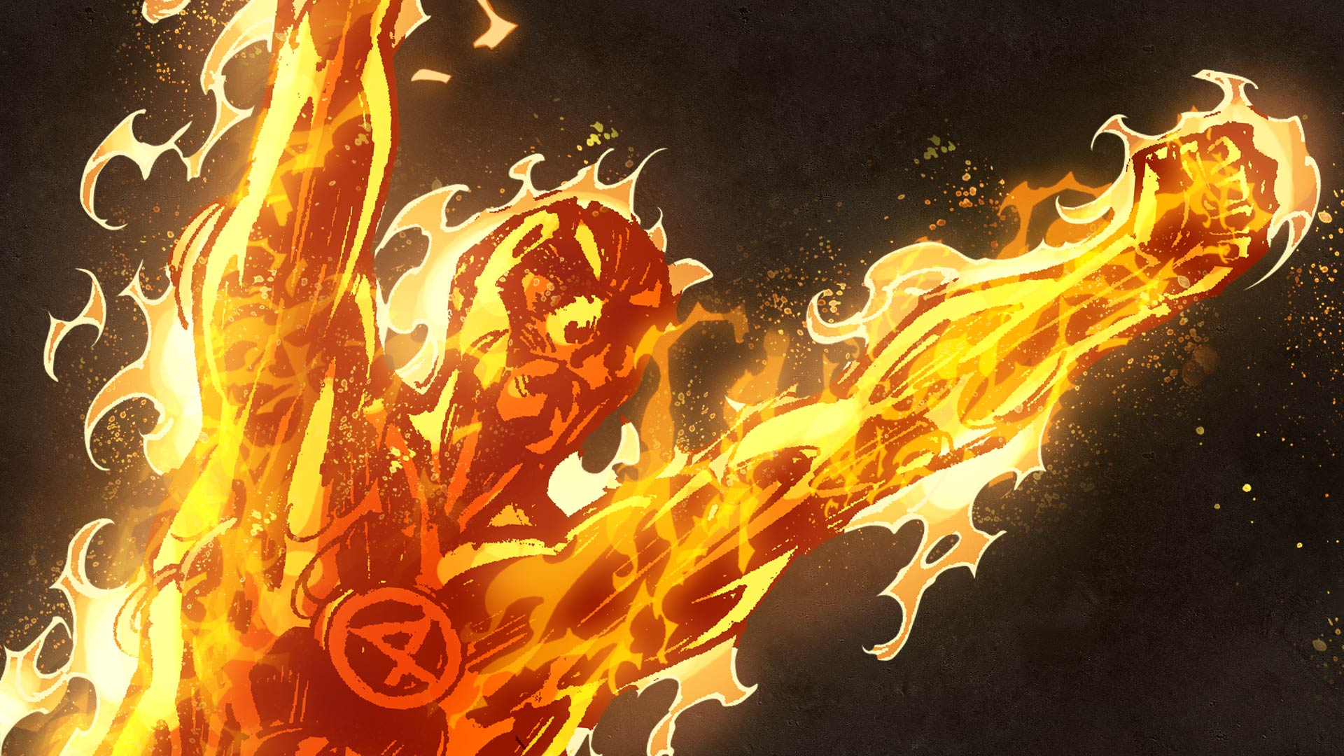 Human Torch HD Wallpaper For Your Desktop 1920x1080