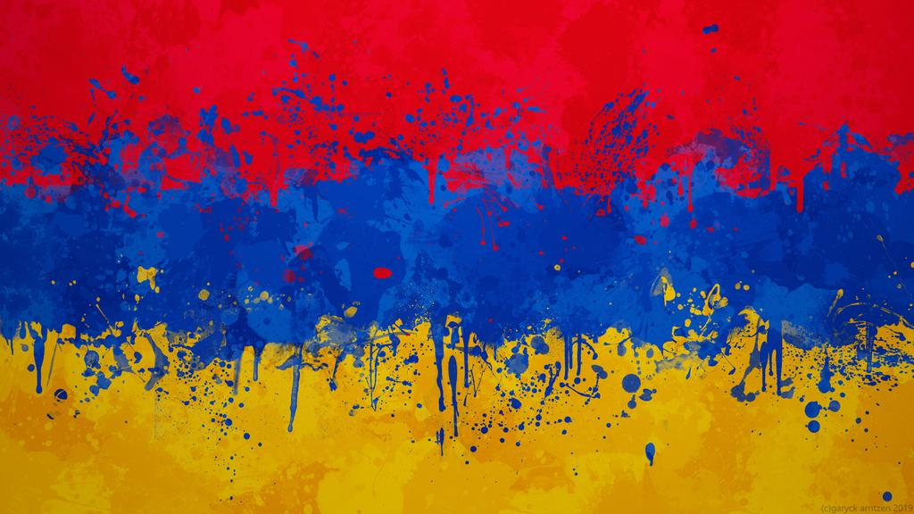 Armenia Flag Wallpaper   Grungy Splatter by GaryckArntzen on 1024x576