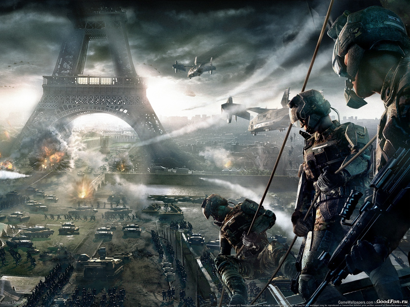Wallpaper Tom Clancys Endwar at Paris 1920x1200 HD Picture Image 1600x1200
