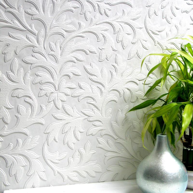 Anaglypta Luxury Textured Vinyl Wallpaper   High Leaf RD80026 800x800