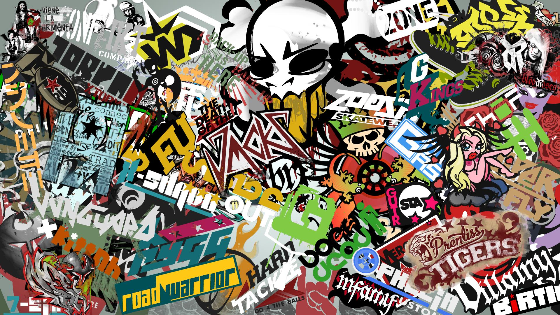 Sticker bomb wallpaper images pictures becuo 1920x1080