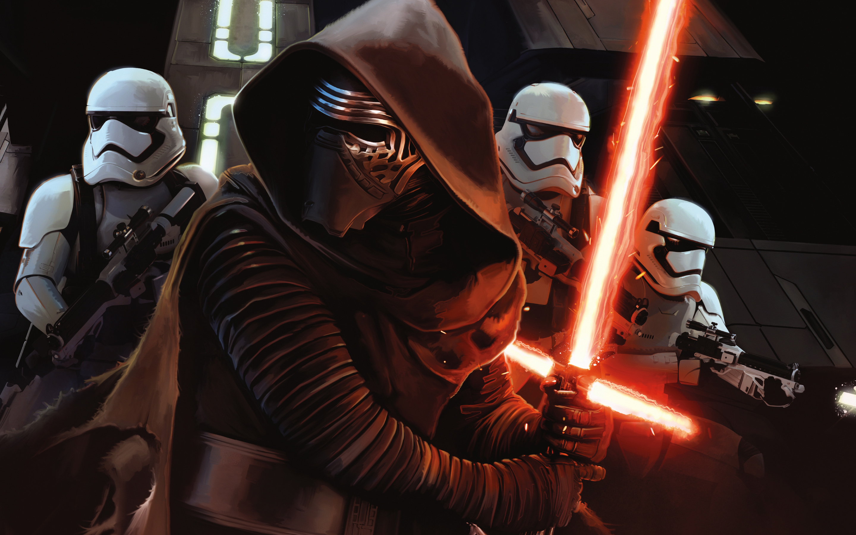 Star Wars Episode VII The Force Awakens Wallpapers HD Wallpapers 2880x1800