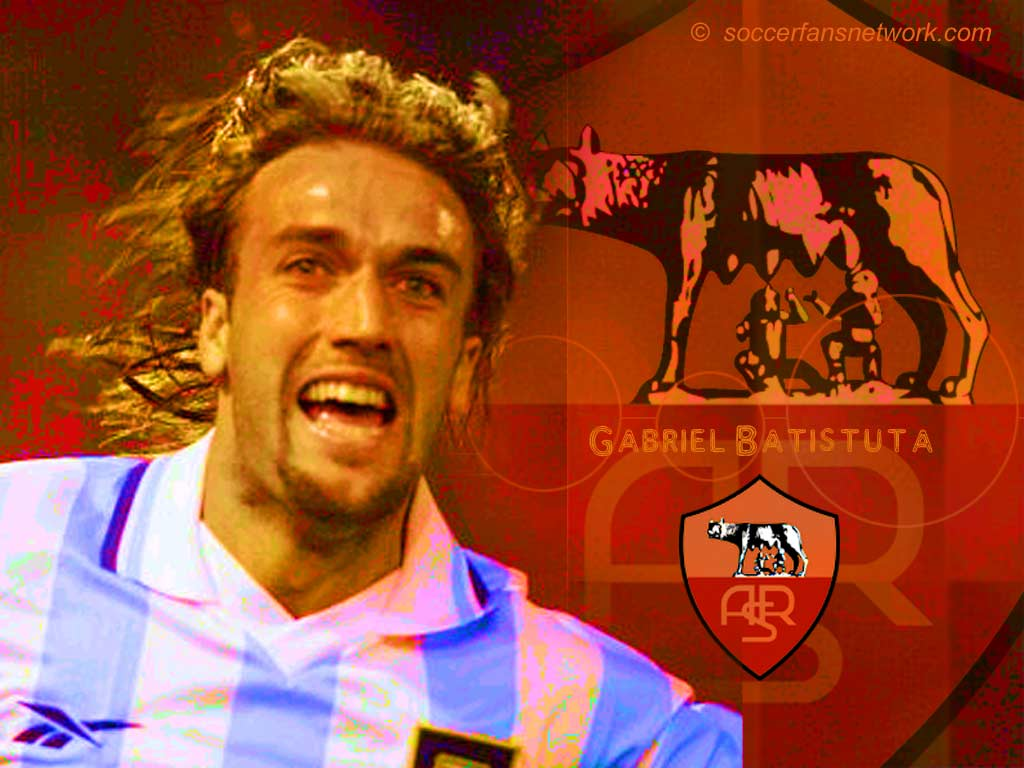 Gabriel Batistuta Football Wallpaper Backgrounds and Picture 1024x768