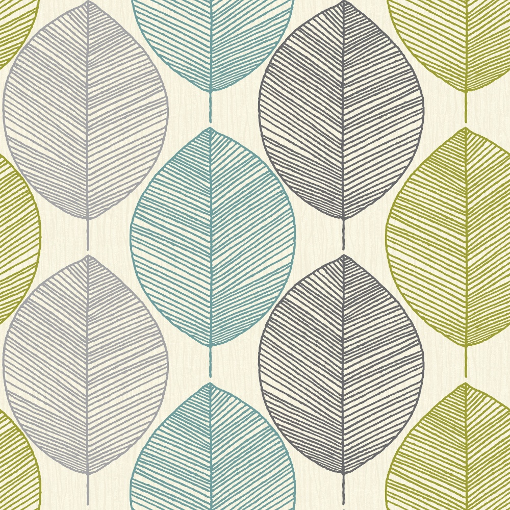 Opera Retro Leaf Pattern Leaves Motif Designer Wallpaper 408207 1000x1000