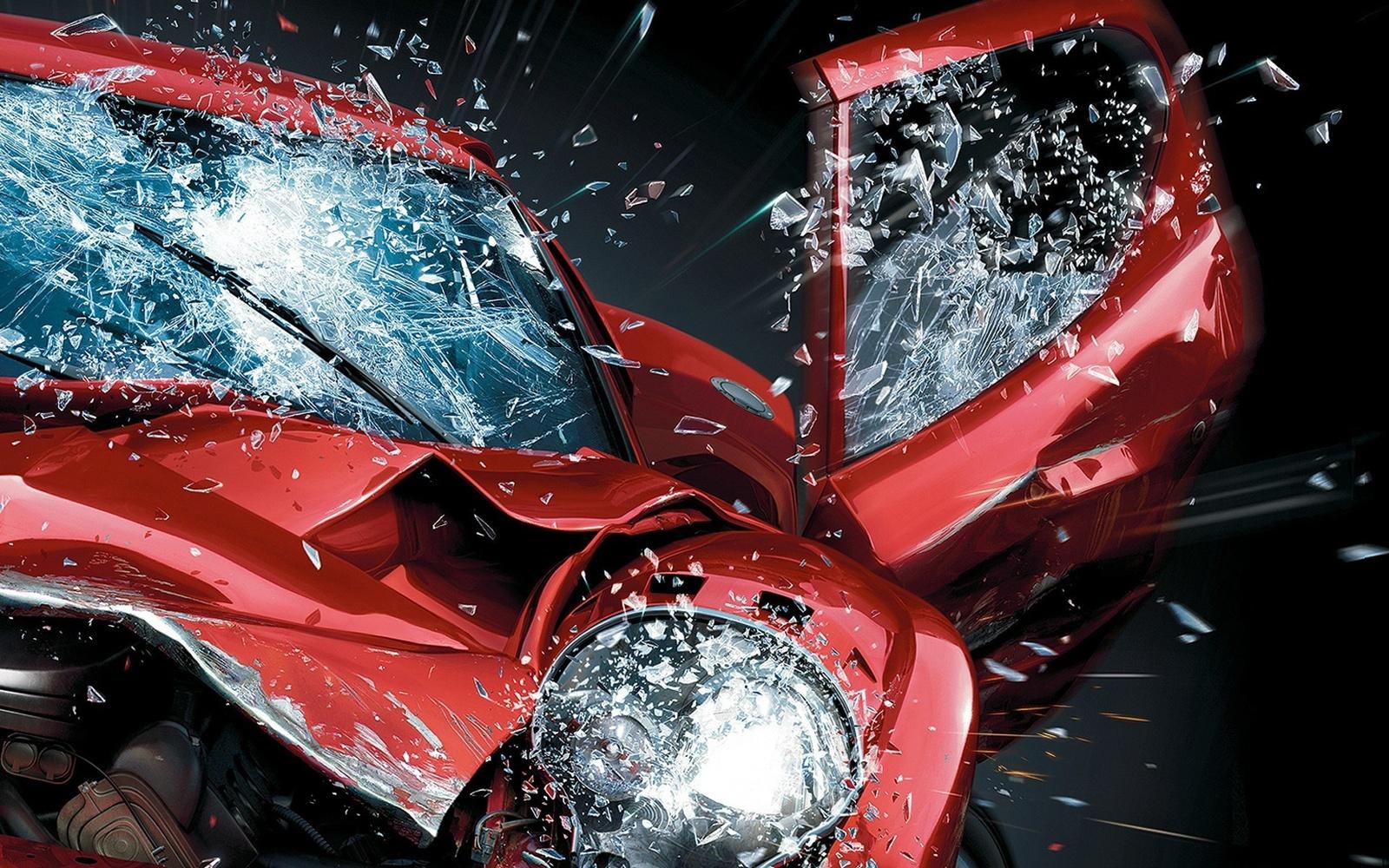 Crash car 3d wallpaper 10