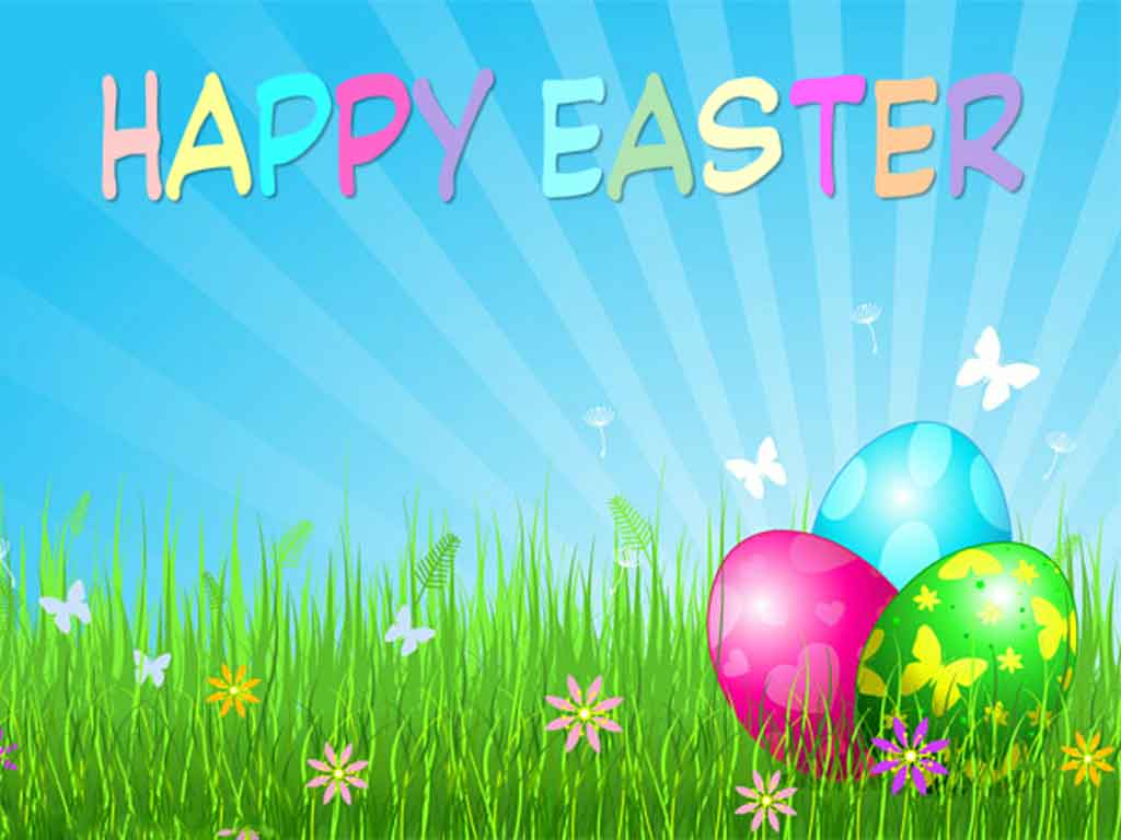 Happy Easter Backgrounds 1024x768