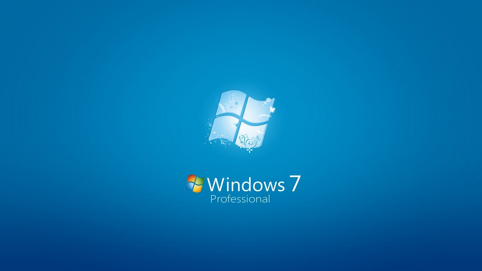 Windows 7 Professional 3D Wallpaper here you can see Windows 7 1600x900