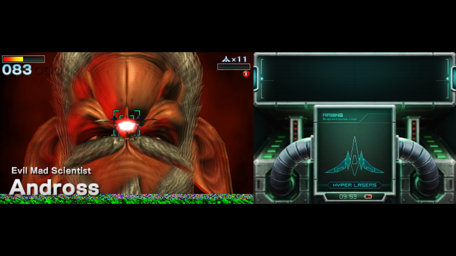 Star Fox 64 3D Aquas and Andross fight are upside down Issue 1920x1080
