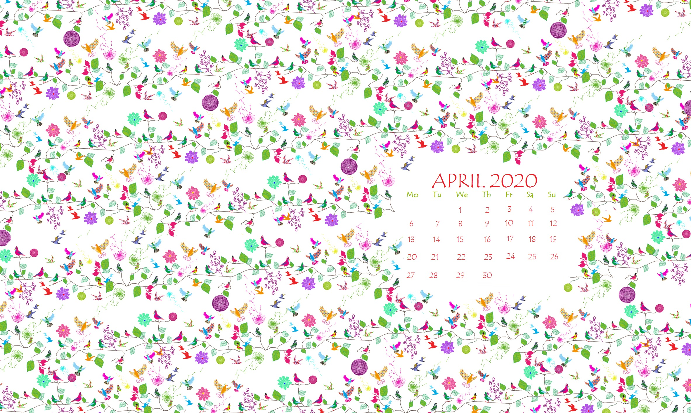 April 2020 Wallpaper Calendar Calendar 2020 2365x1414