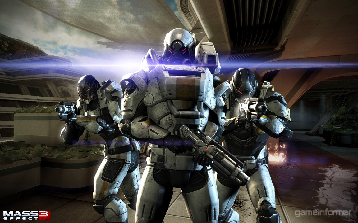 Gears of Halo Mass Effect 3 Wallpaper from Game Informer 1152x720