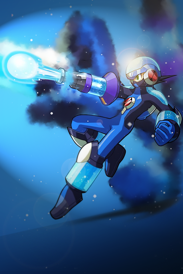 Megaman iPhone wallpaper by TheInv4sion 640x960