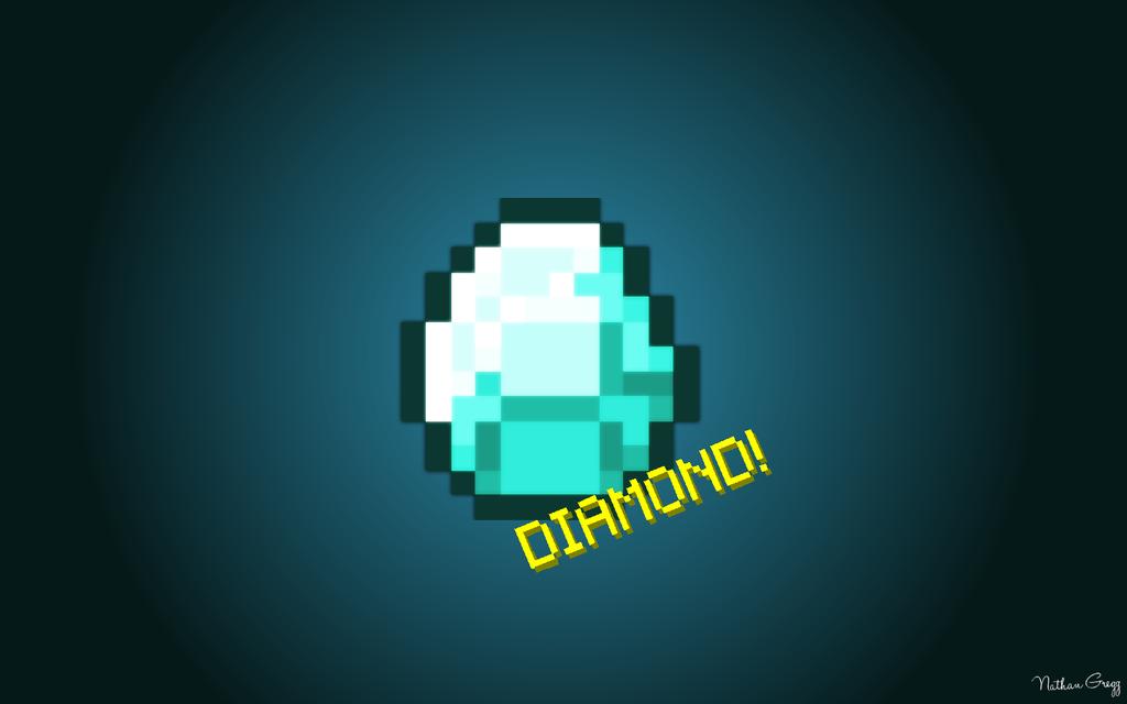 Diamond Minecraft Wallpaper Minecraft diamond background 1024x640
