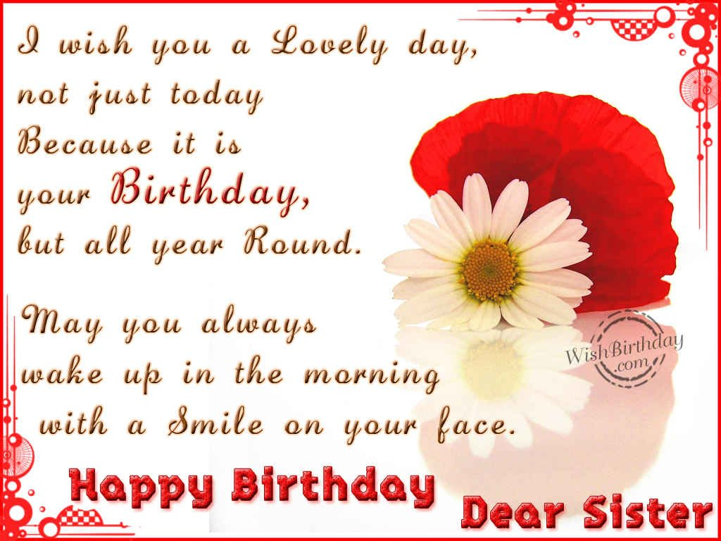 Magnificent Free Download Happy Birthday Dear Sister Sky Hd Wallpaper Personalised Birthday Cards Veneteletsinfo