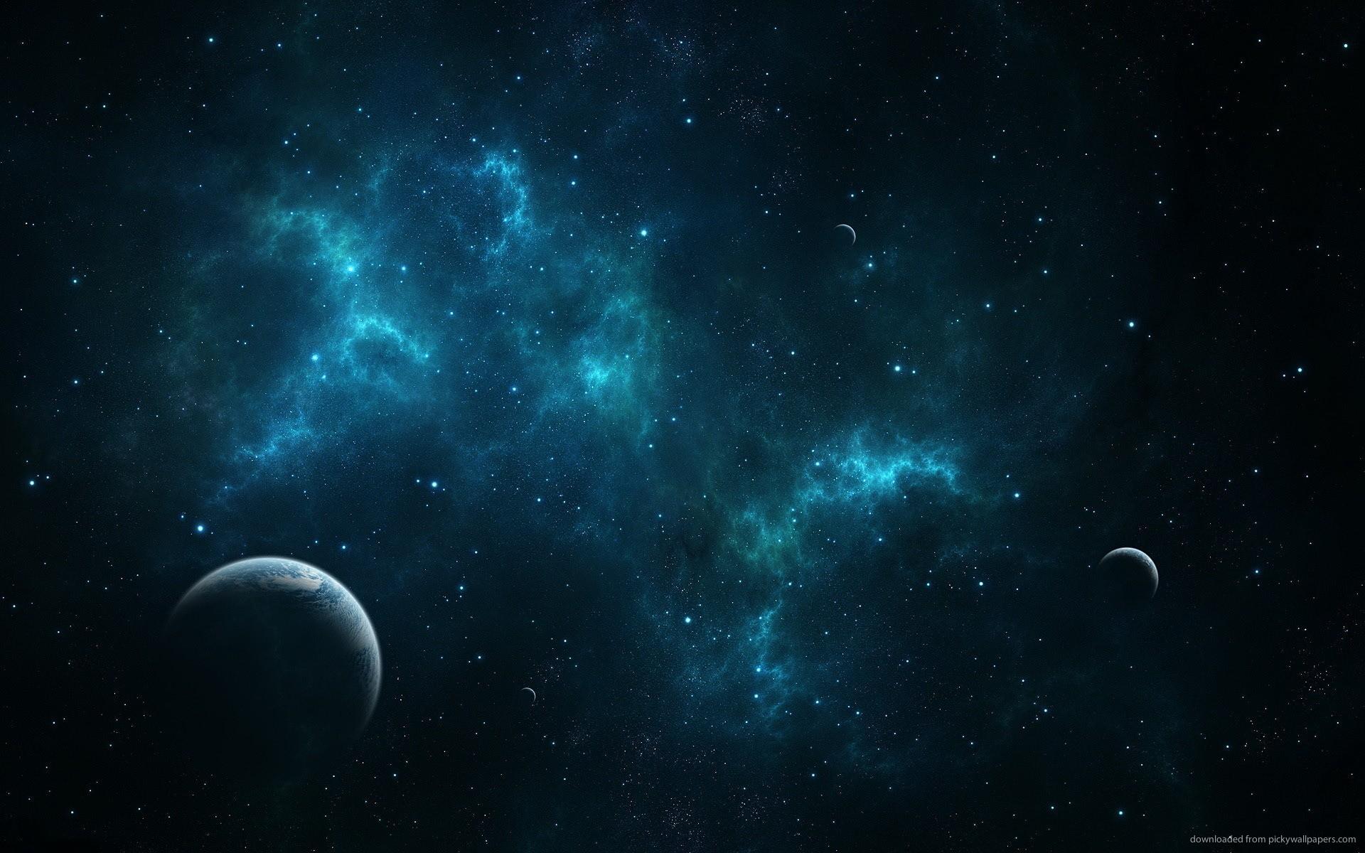 Download 1920x1200 Deep Blue Space Wallpaper 1920x1200