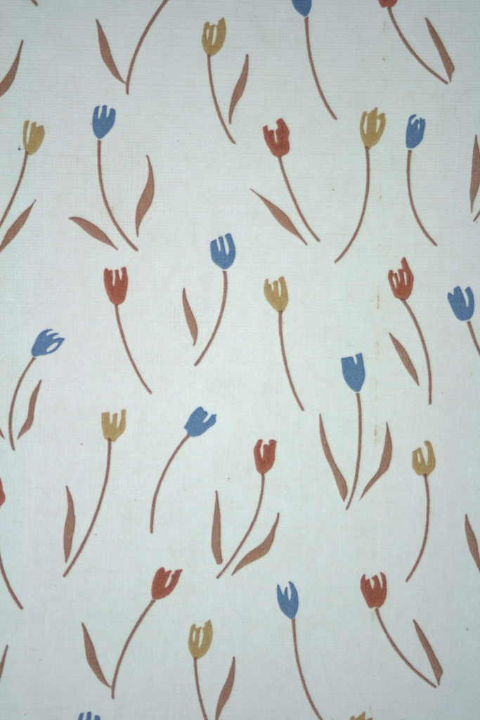 Free Download Vintage 50s Wallpaper With Tulip Design