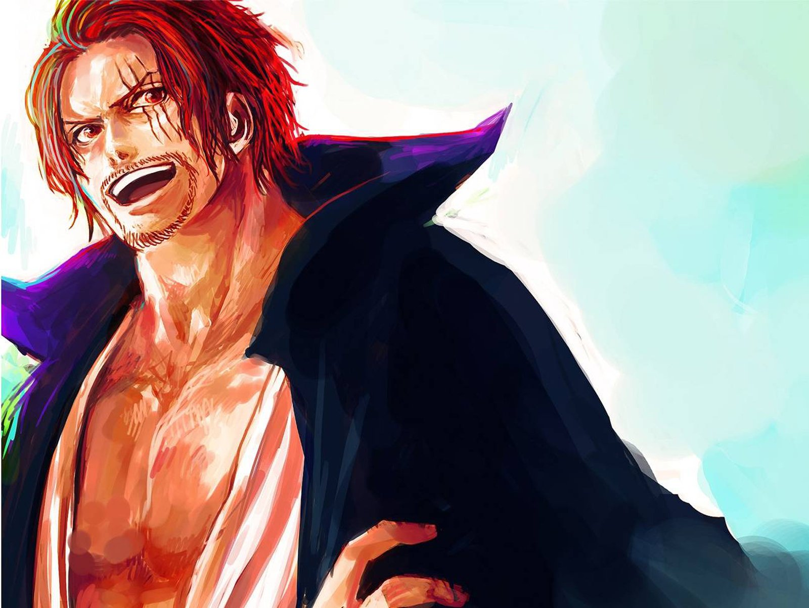 Red Haired Shanks Anime One Piece HD Wallpaper Desktop Background 1600x1204