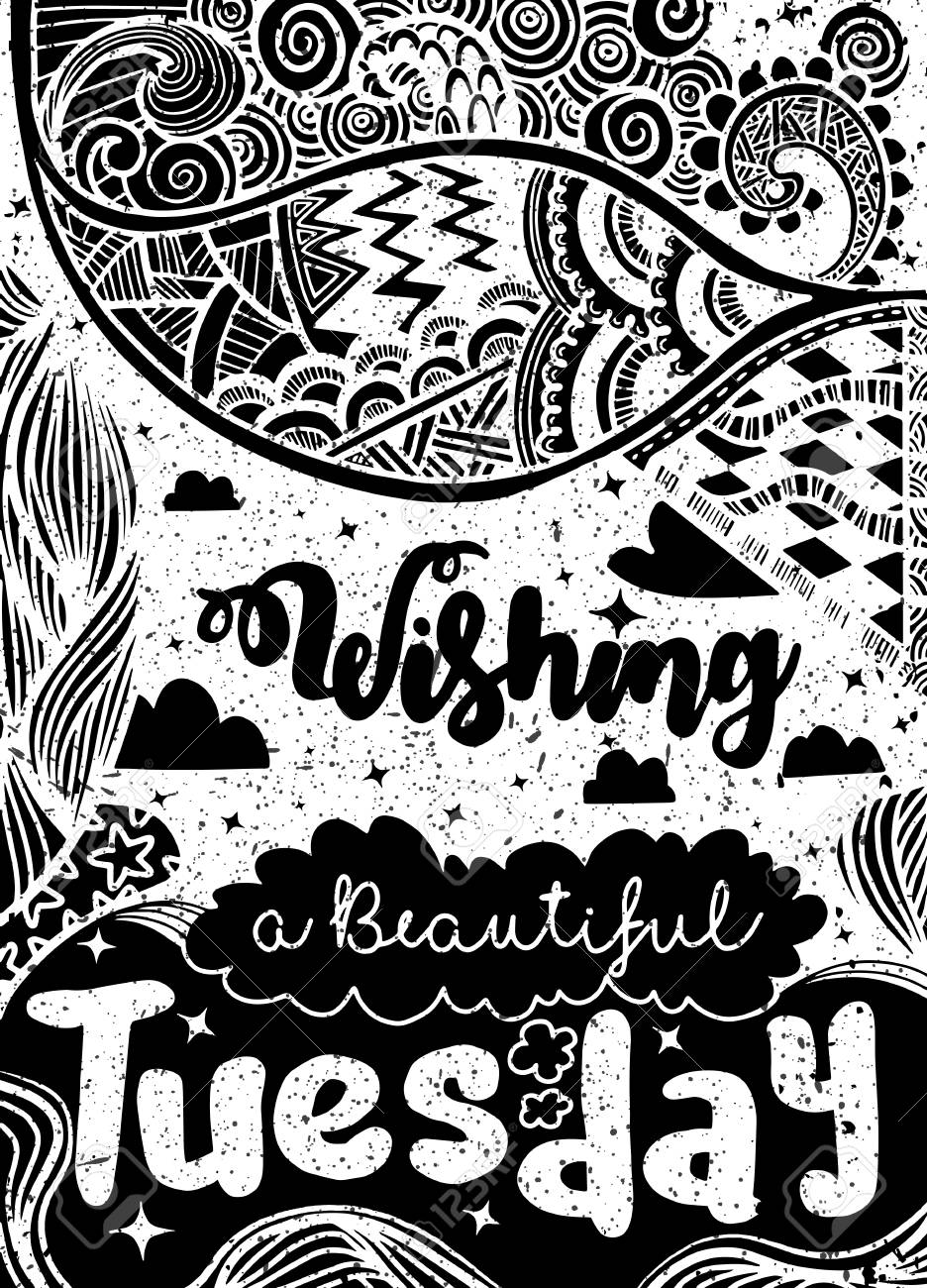 Week Days Motivation Quotes TuesdayVector Ethnic Pattern Can 936x1300