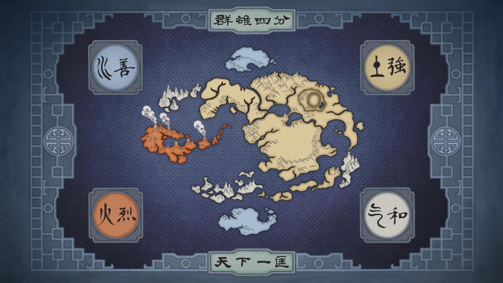 Map Of The Avatar World Last Airbender Wallpaper 1920x1080