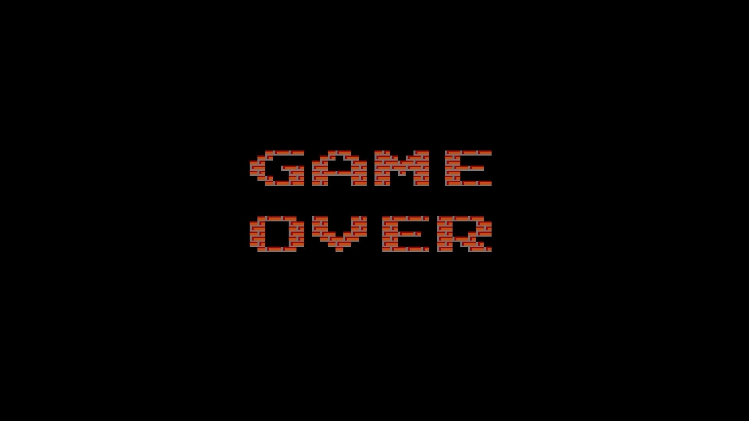 2560x1440 video games text typography game over famicom Wallpaper 2560x1440