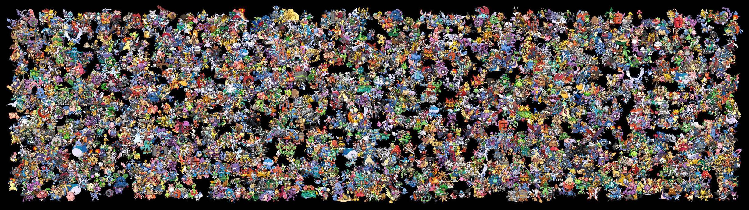 Using the Pokemon Sprite Wallpaper generator when pokemon 2458x691