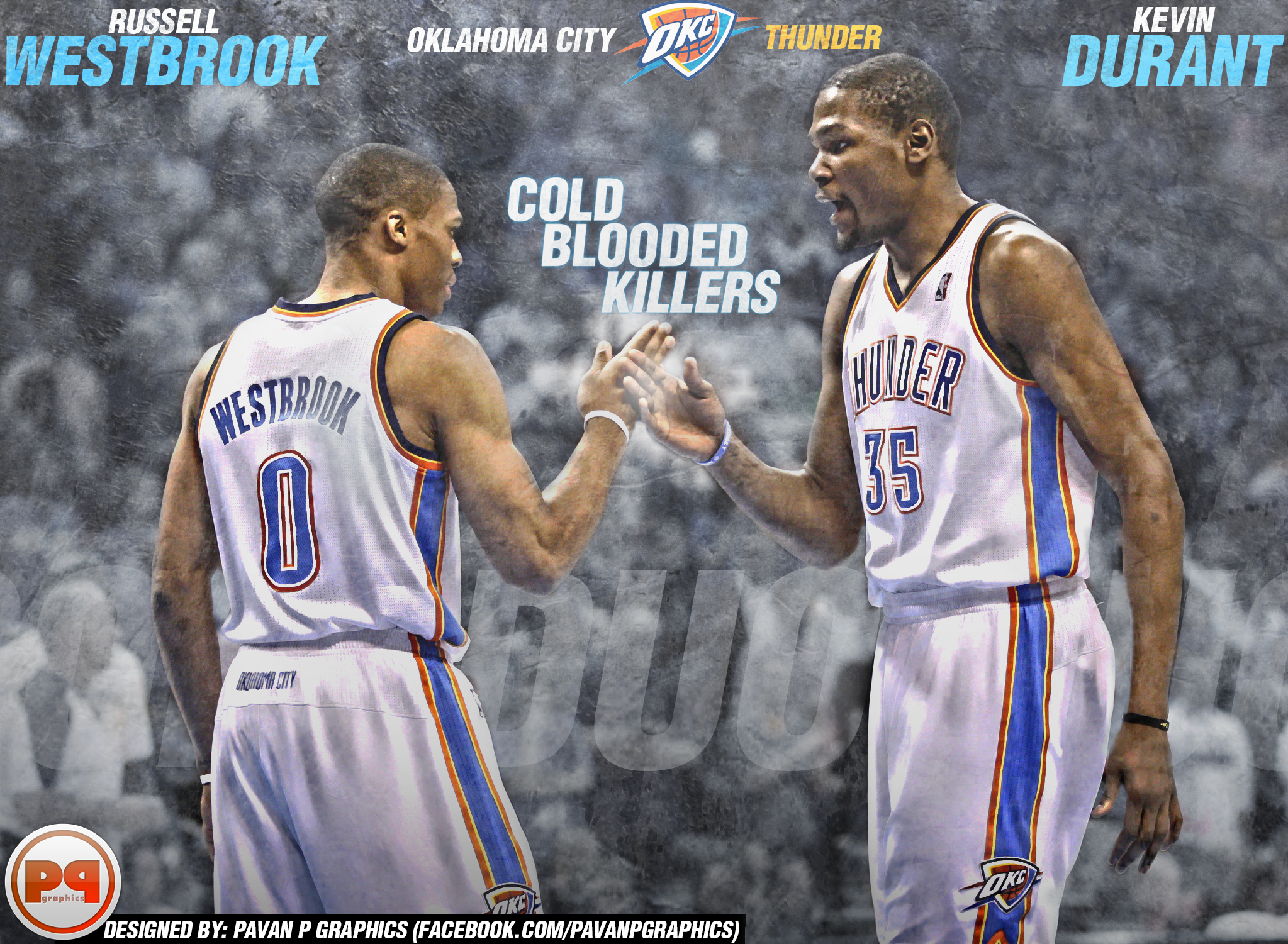 50] Kevin Durant And Russell Westbrook 2015 Wallpaper on 2047x1501
